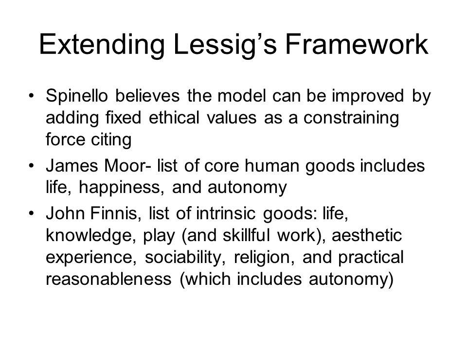 Extending Lessig's Framework