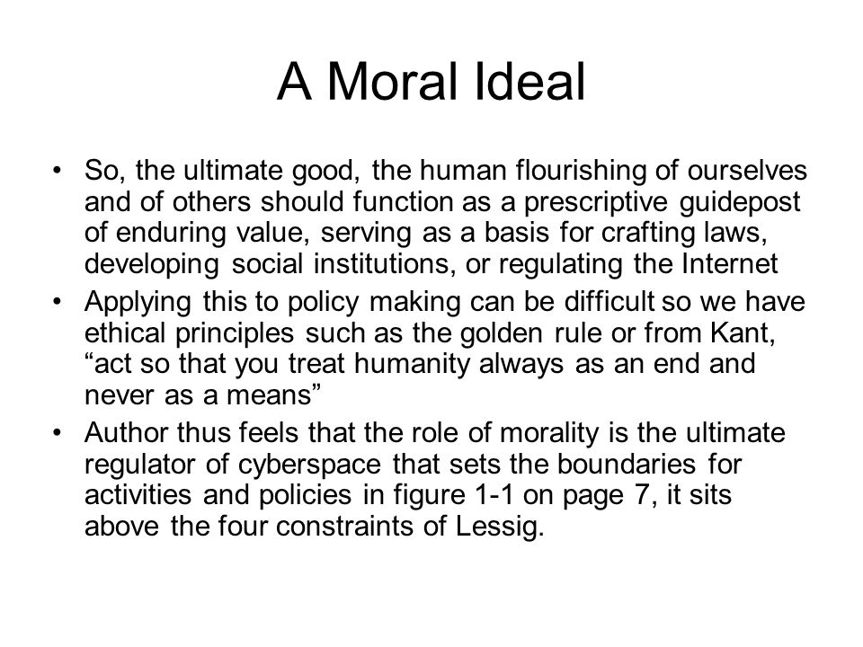 A Moral Ideal