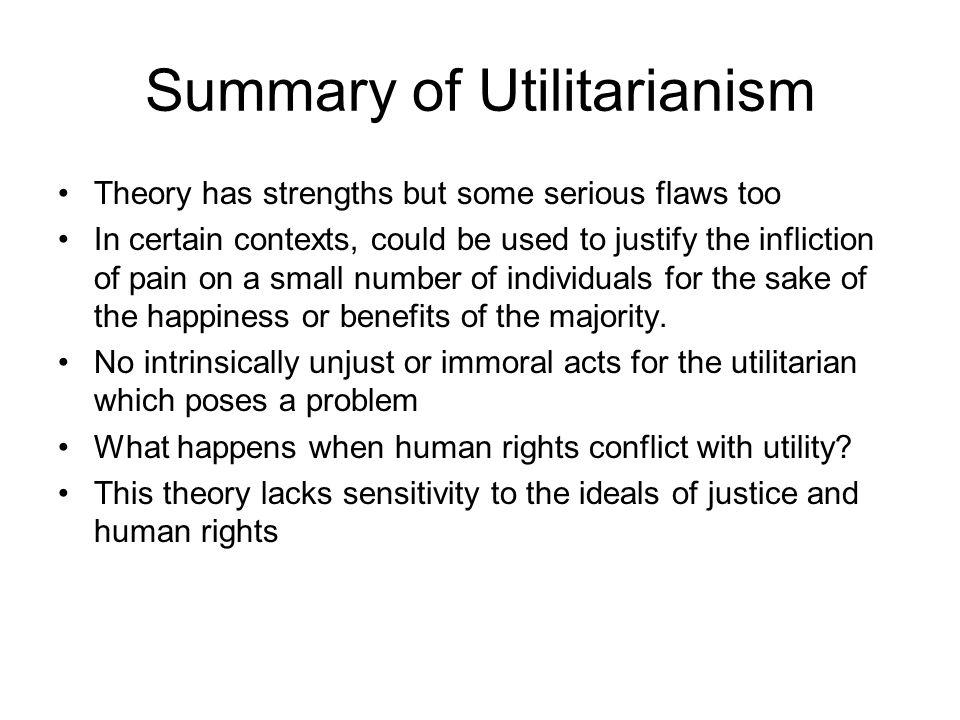Summary of Utilitarianism