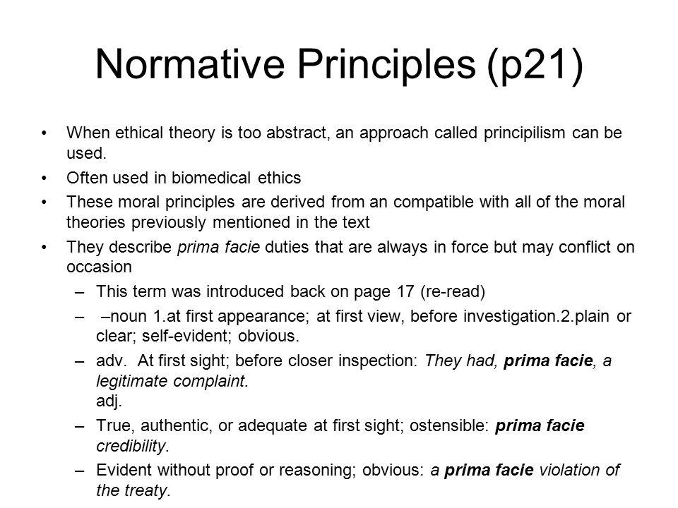 Normative Principles (p21)