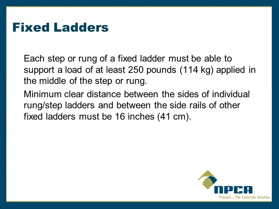 Fixed Ladders