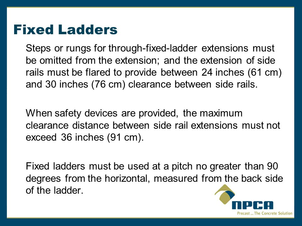 Fixed Ladders