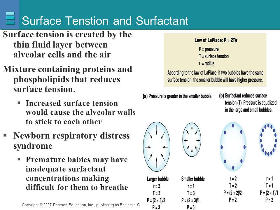 Surface Tenstion and Surfactant