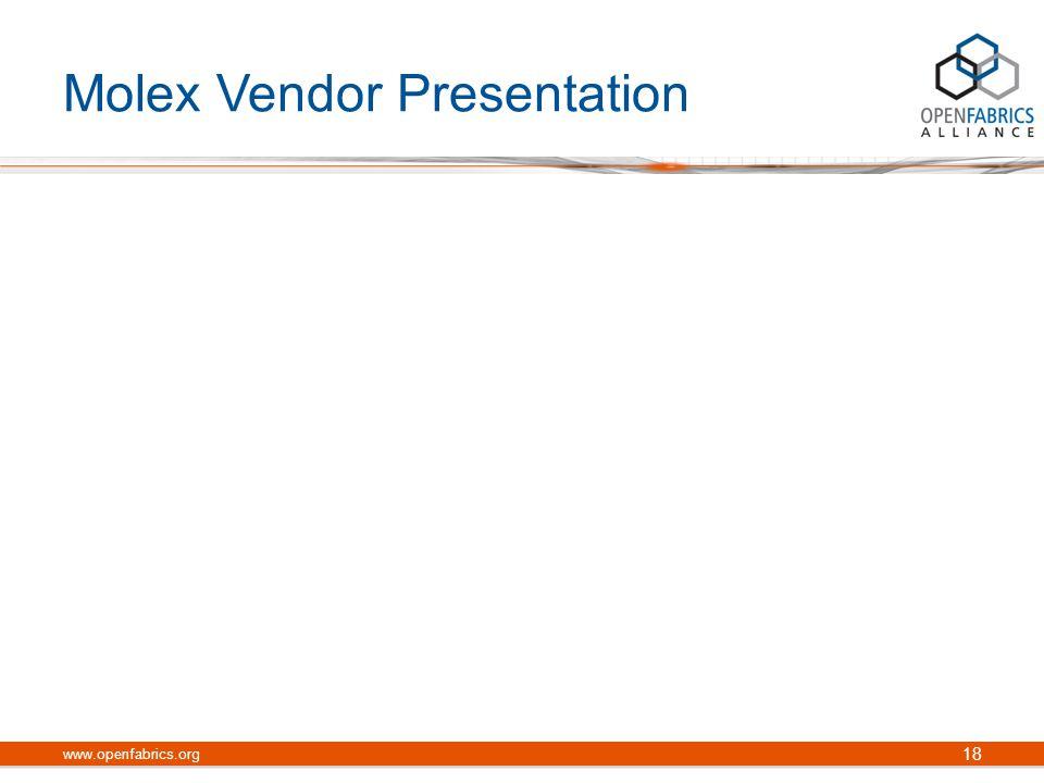 Molex Vendor Presentation