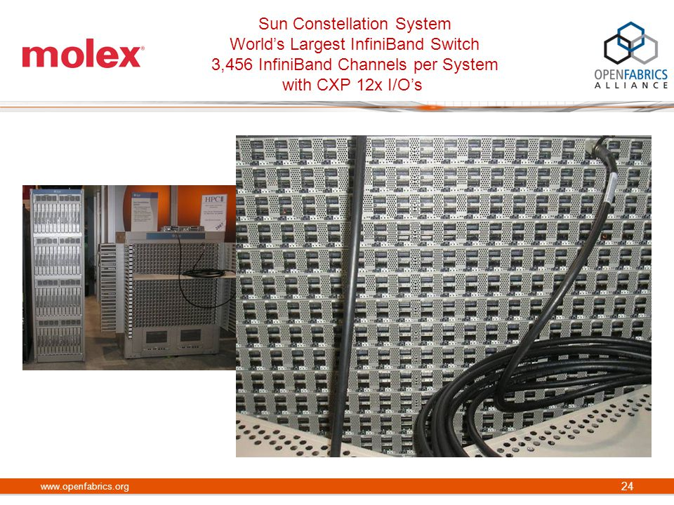Sun Constellation System World's Largest InfiniBand Switch