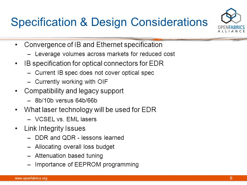 Specification & Design Considerations