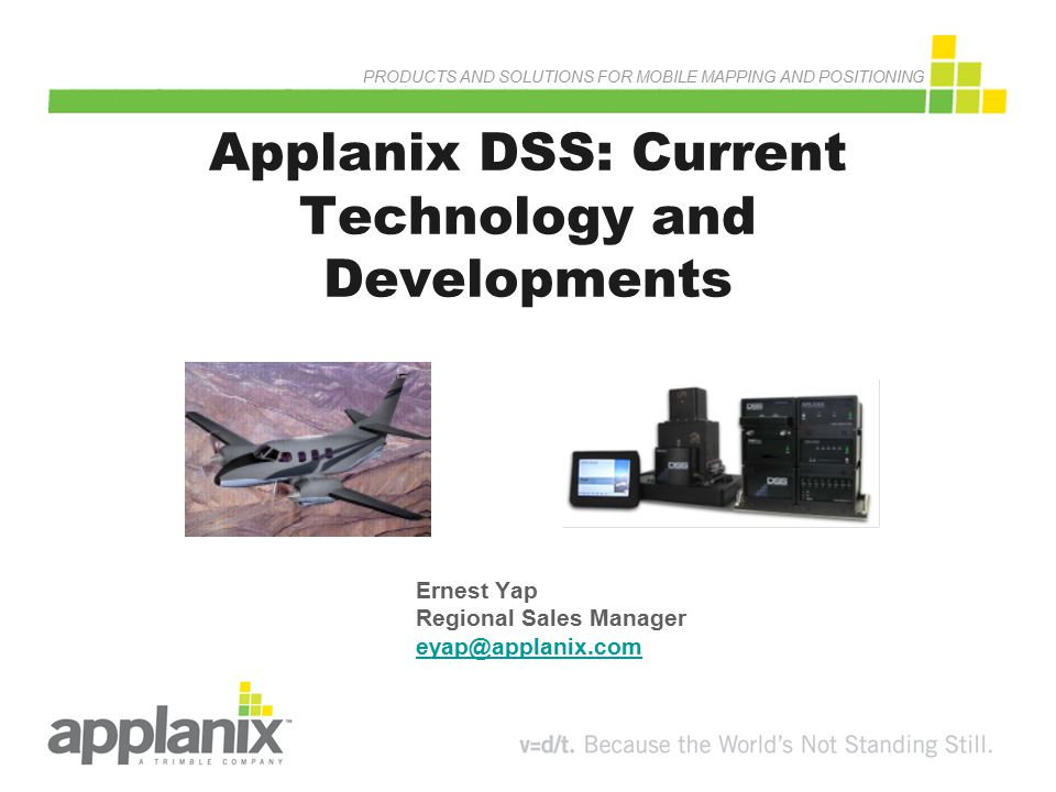 Applanix DSS: Current Technology and Developments
