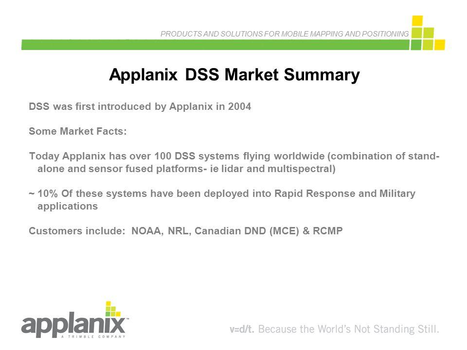 Applanix DSS Market Summary