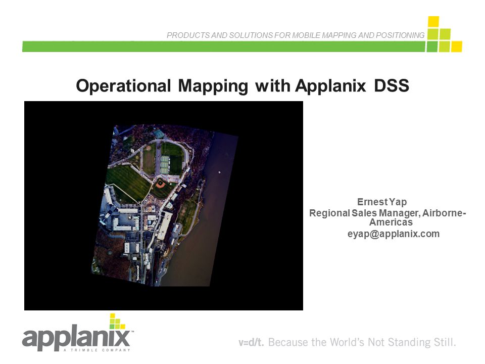 Operational Mapping with Applanix DSS