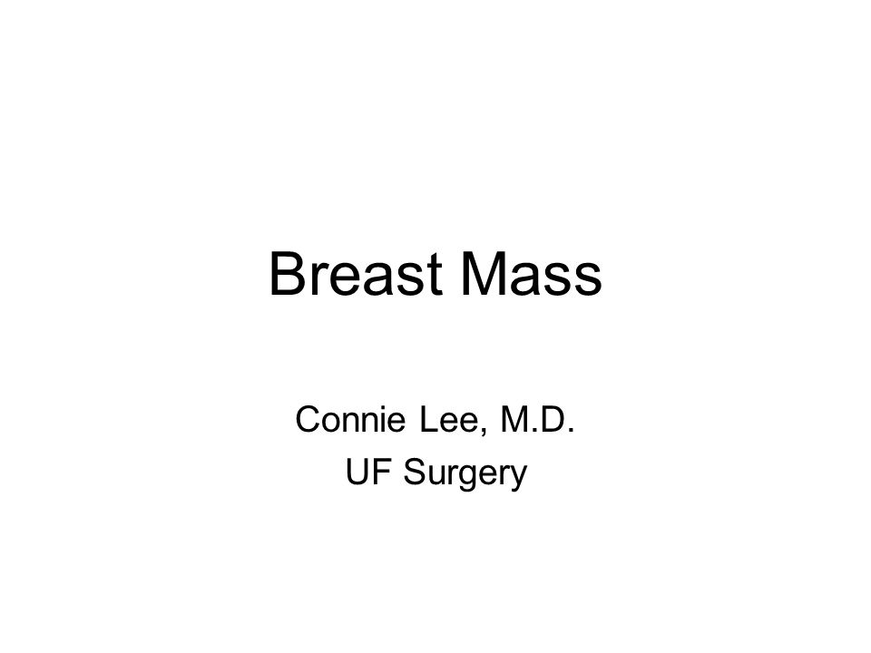 Connie Lee, M.D. UF Surgery