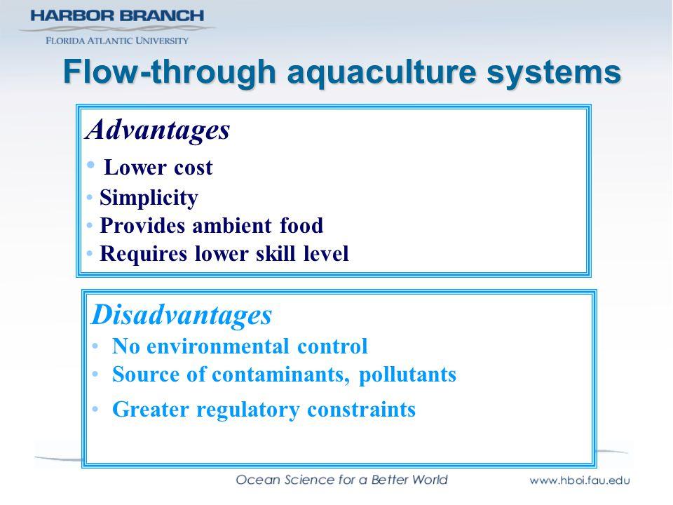 Flow-through aquaculture systems