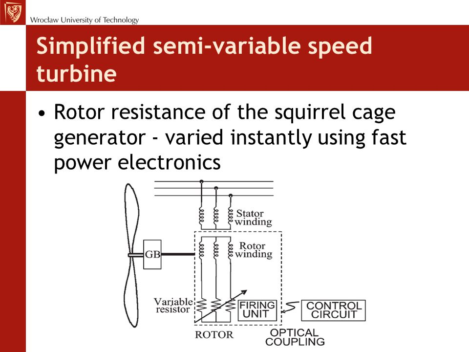 Simplified semi-variable speed turbine