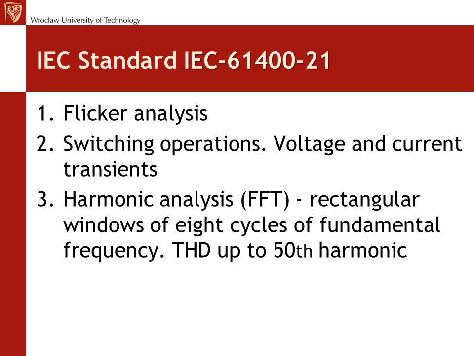 IEC Standard IEC-61400-21 Flicker analysis