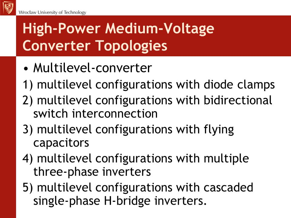 High-Power Medium-Voltage Converter Topologies