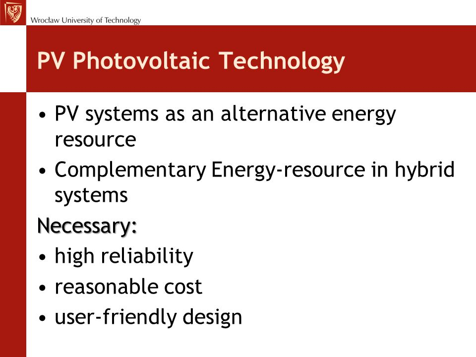 PV Photovoltaic Technology