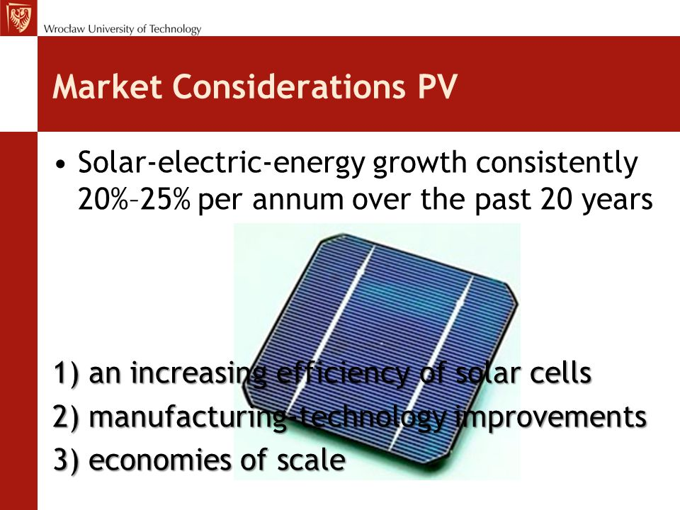 Market Considerations PV