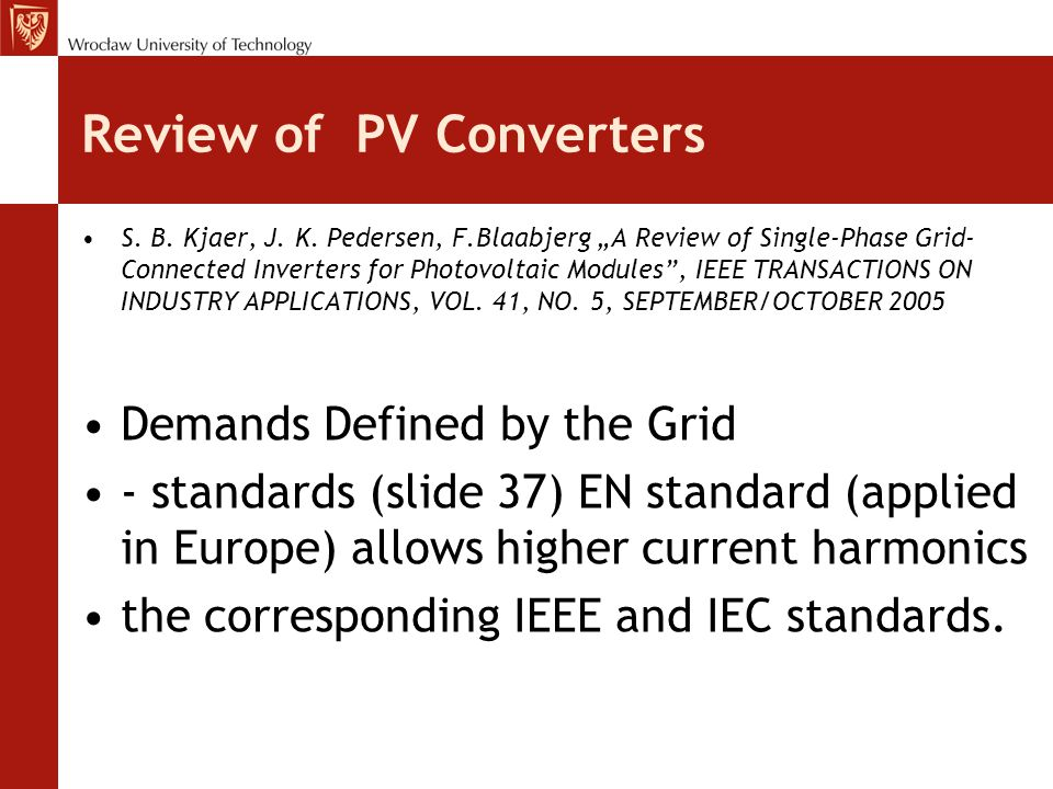 Review of PV Converters