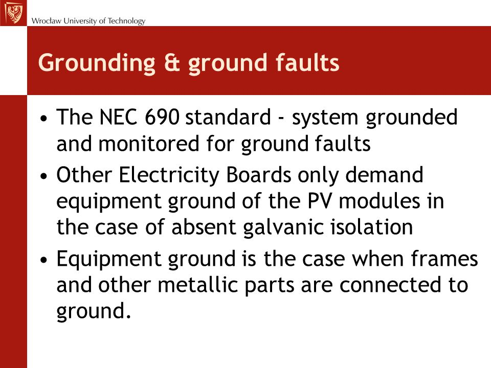 Grounding & ground faults