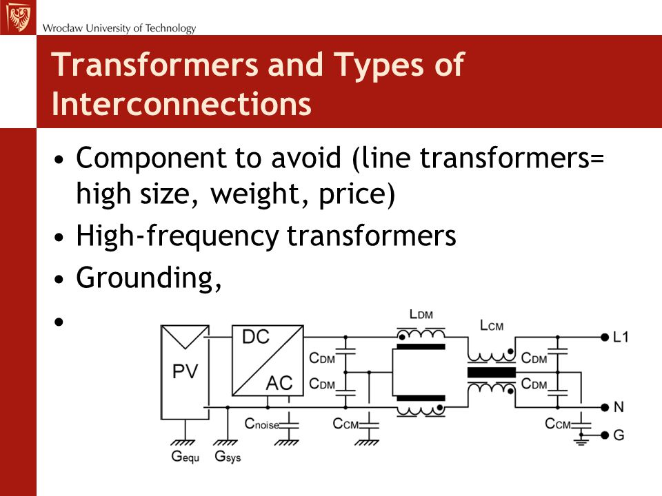 Transformers and Types of Interconnections