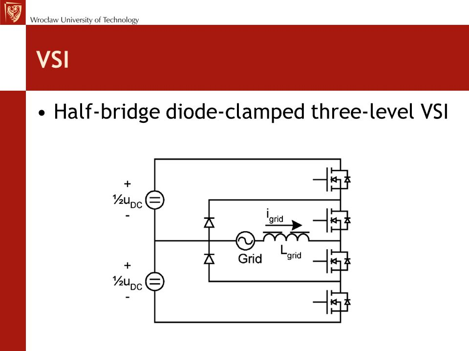 VSI Half-bridge diode-clamped three-level VSI