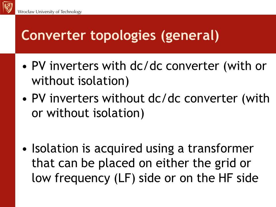 Converter topologies (general)