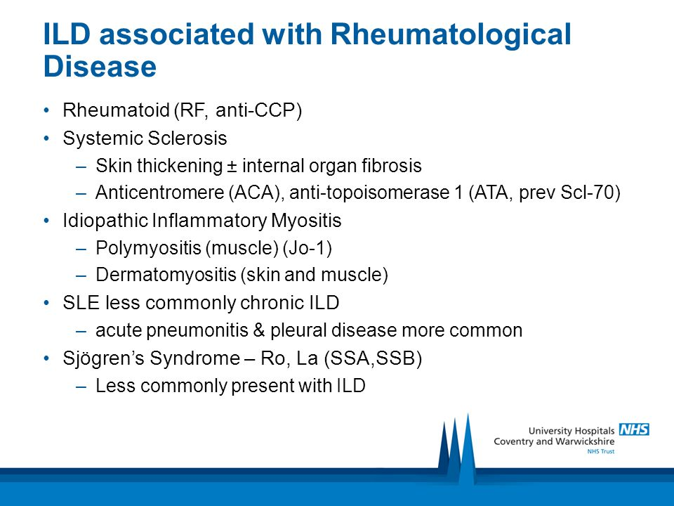 ILD associated with Rheumatological Disease