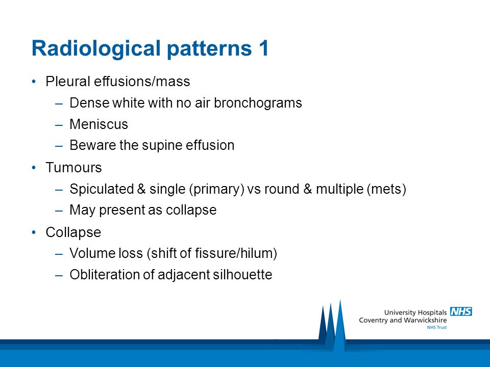 Radiological patterns 1