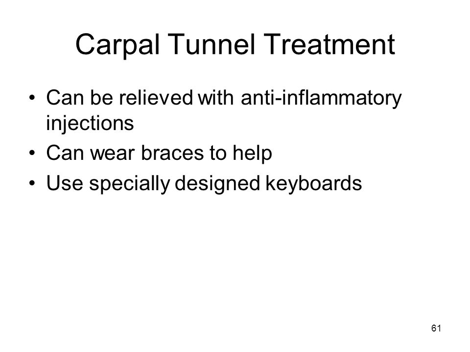 Carpal Tunnel Treatment