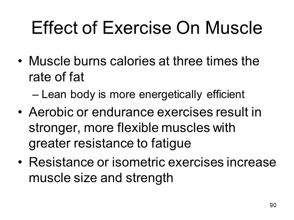 Effect of Exercise On Muscle