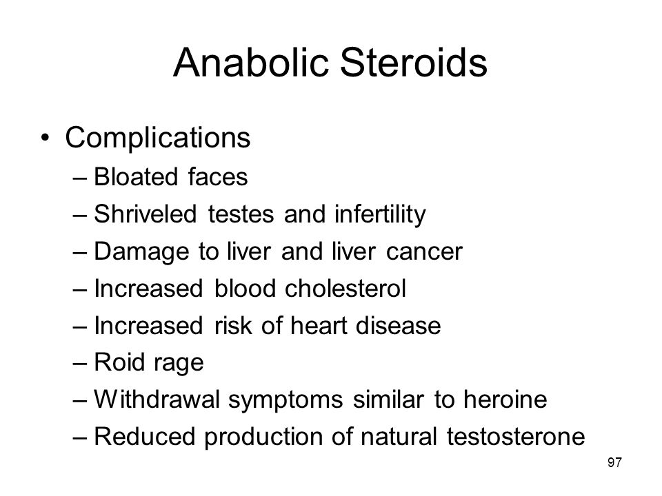 Anabolic Steroids Complications Bloated faces