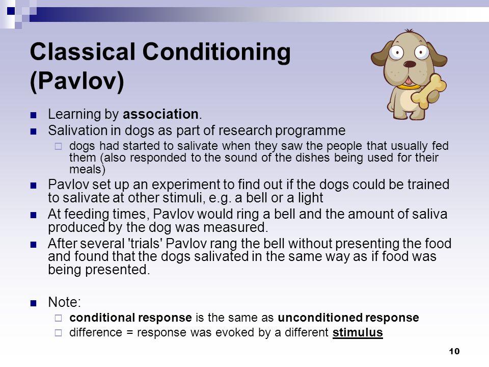 Classical Conditioning (Pavlov)