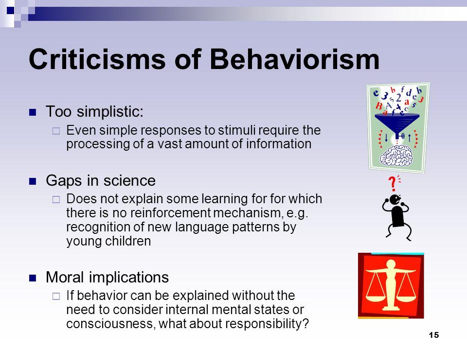 Criticisms of Behaviorism