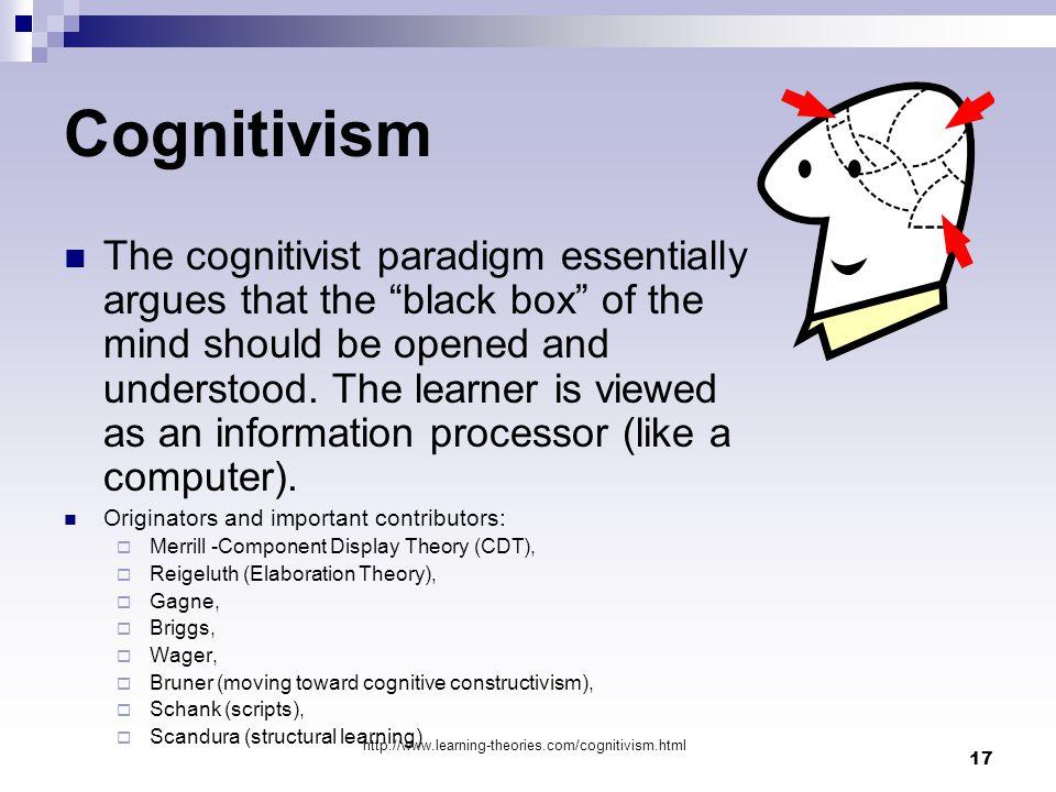behaviourism  cognitivism  social constructivism