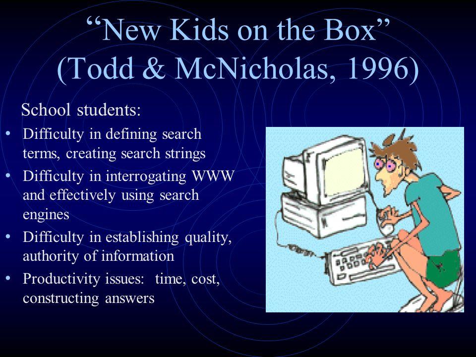 New Kids on the Box (Todd & McNicholas, 1996)