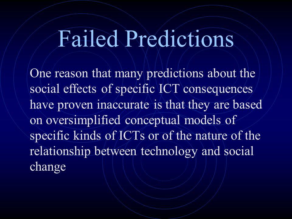 Failed Predictions