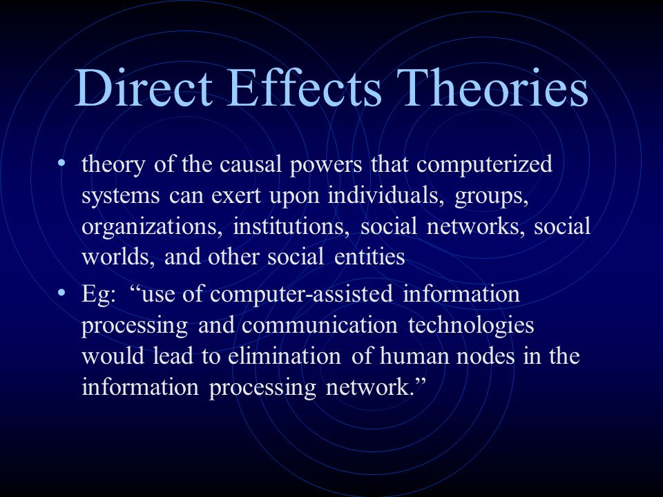 Direct Effects Theories