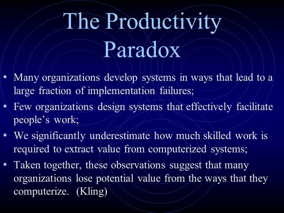 The Productivity Paradox