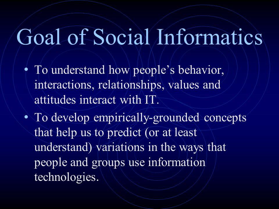 Goal of Social Informatics