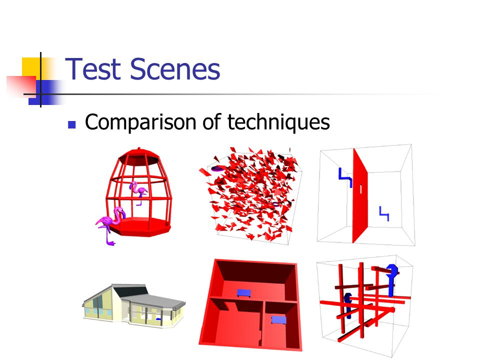 Test Scenes Comparison of techniques