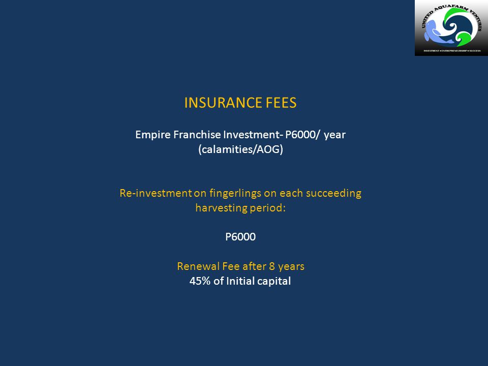 INSURANCE FEES Empire Franchise Investment- P6000/ year