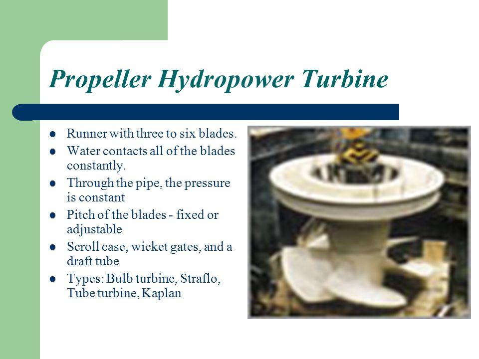 Propeller Hydropower Turbine