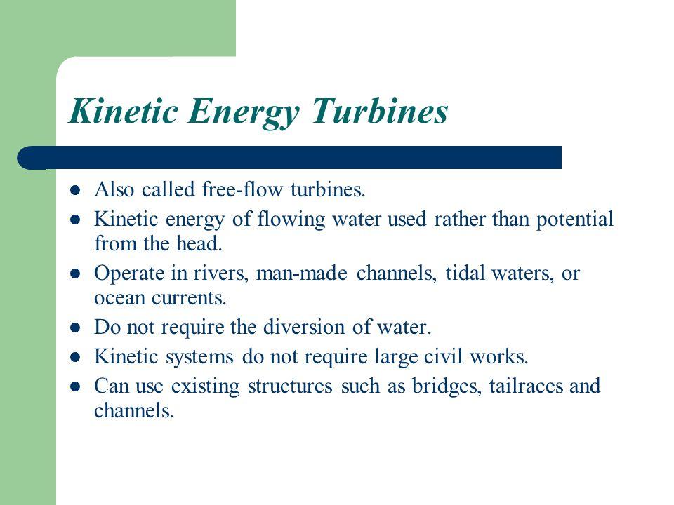 Kinetic Energy Turbines