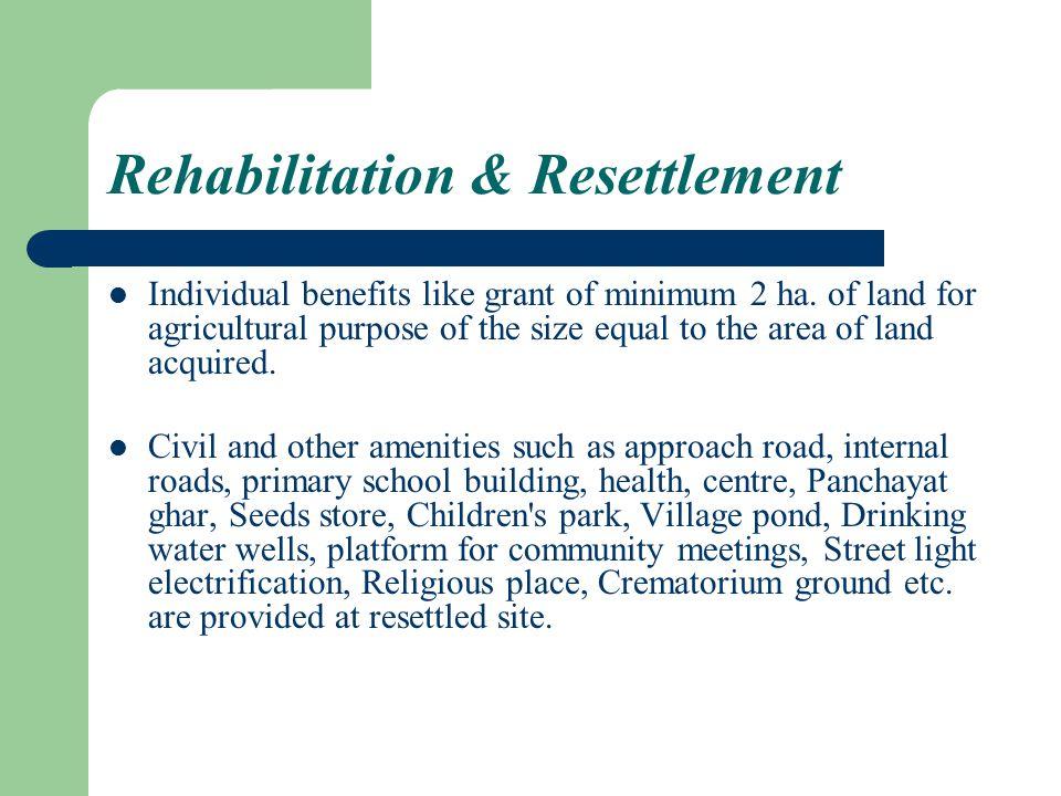 Rehabilitation & Resettlement