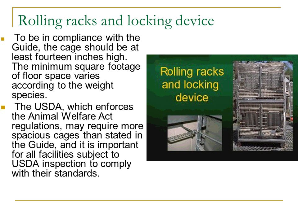 Rolling racks and locking device