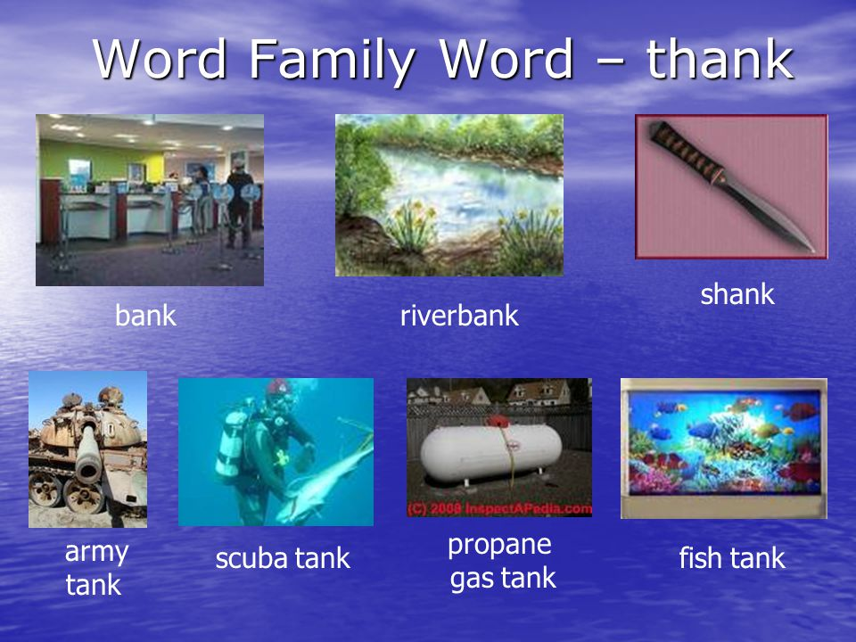 Word Family Word – thank