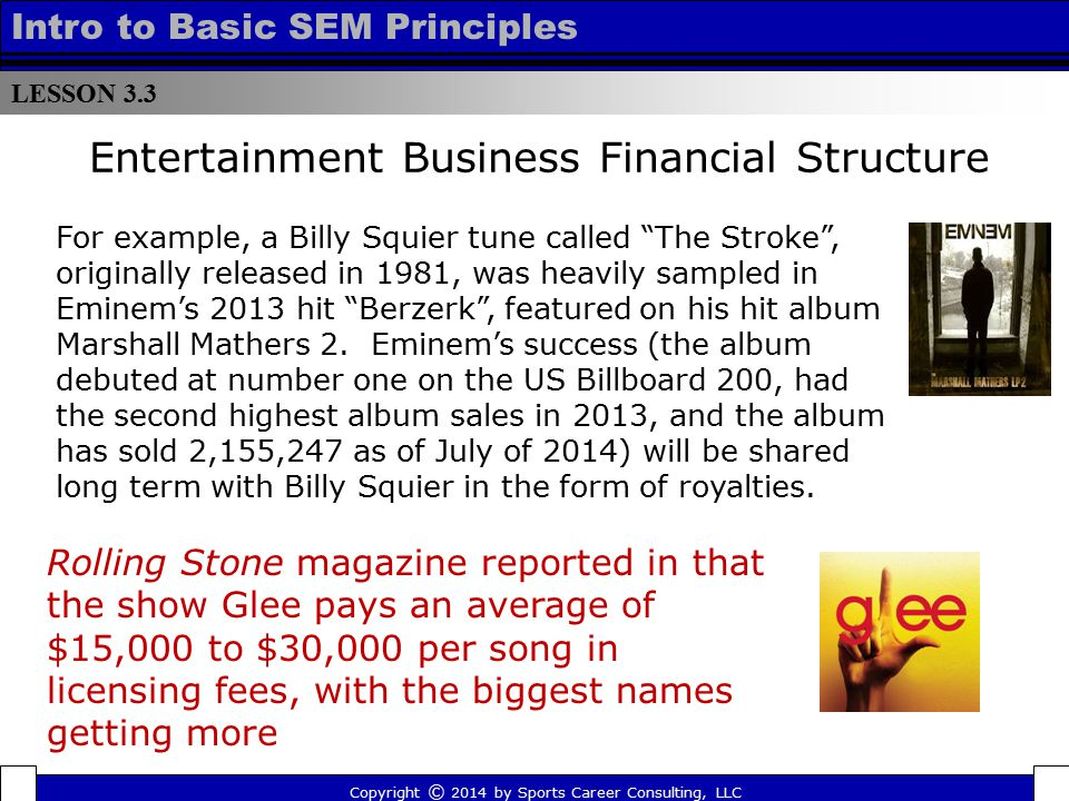 Entertainment Business Financial Structure