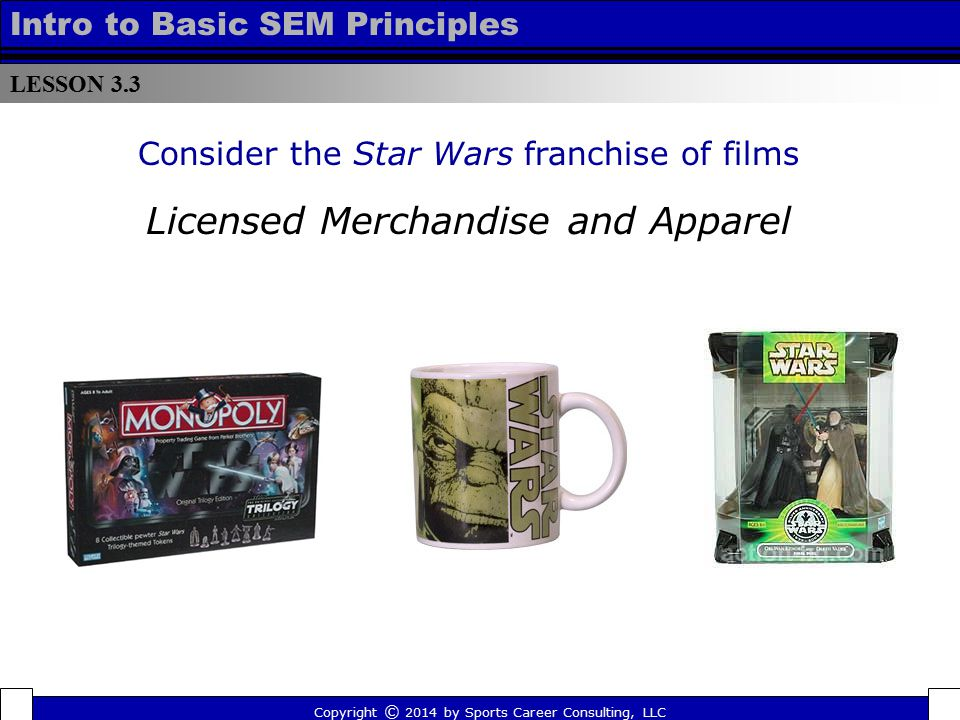 Licensed Merchandise and Apparel