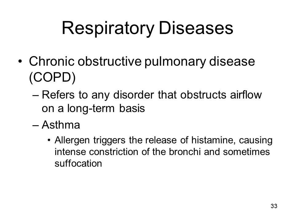 Respiratory Diseases Chronic obstructive pulmonary disease (COPD)