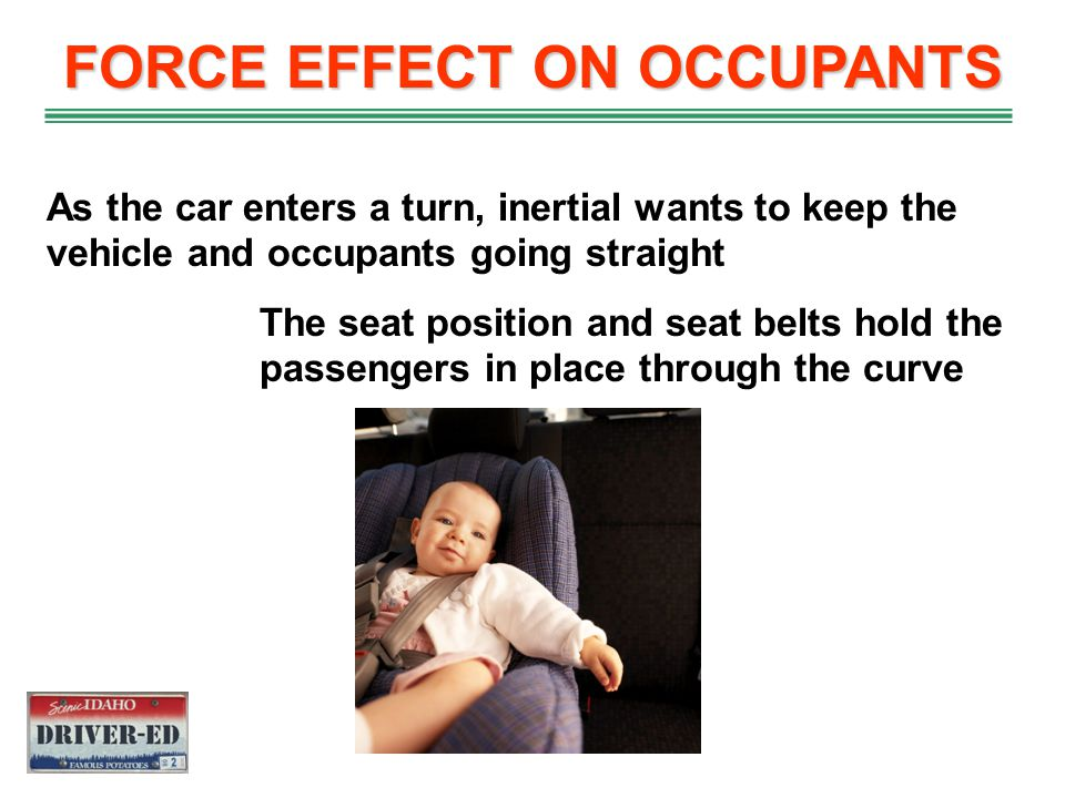 FORCE EFFECT ON OCCUPANTS