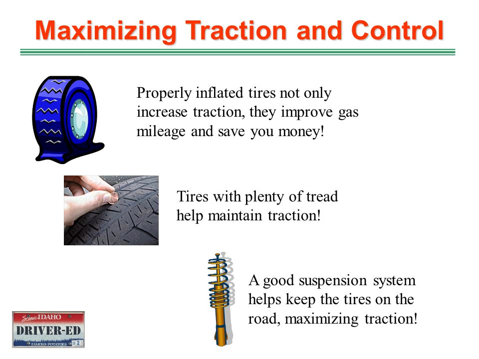 Maximizing Traction and Control